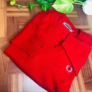 vtg retro 90s oversized red boyfriend sweater
